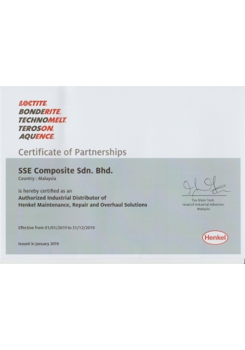 LOCTITE CERTIFICATE OF PARTNERSHIPS - 2019