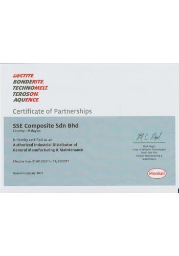 LOCTITE CERTIFICATE OF PARTNERSHIPS - 2021