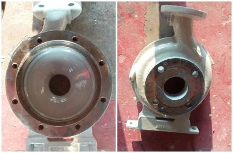 Apply Loctite Nordbak Brushable Ceramic Coating for Pump Casing