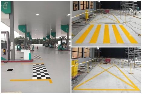 Checkered Floor Coating c/w Zebra Crossing