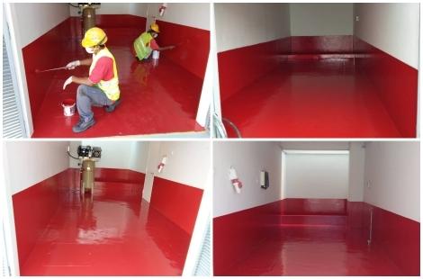 Generator & Compressor Room Floor & Wall Coating