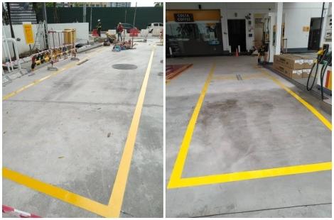 Yellow Line Floor Coating