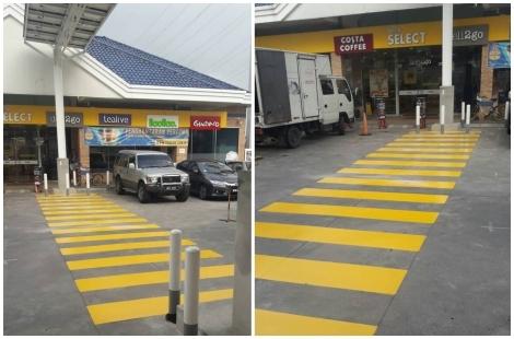 Zebra Crossing Line Floor Coating